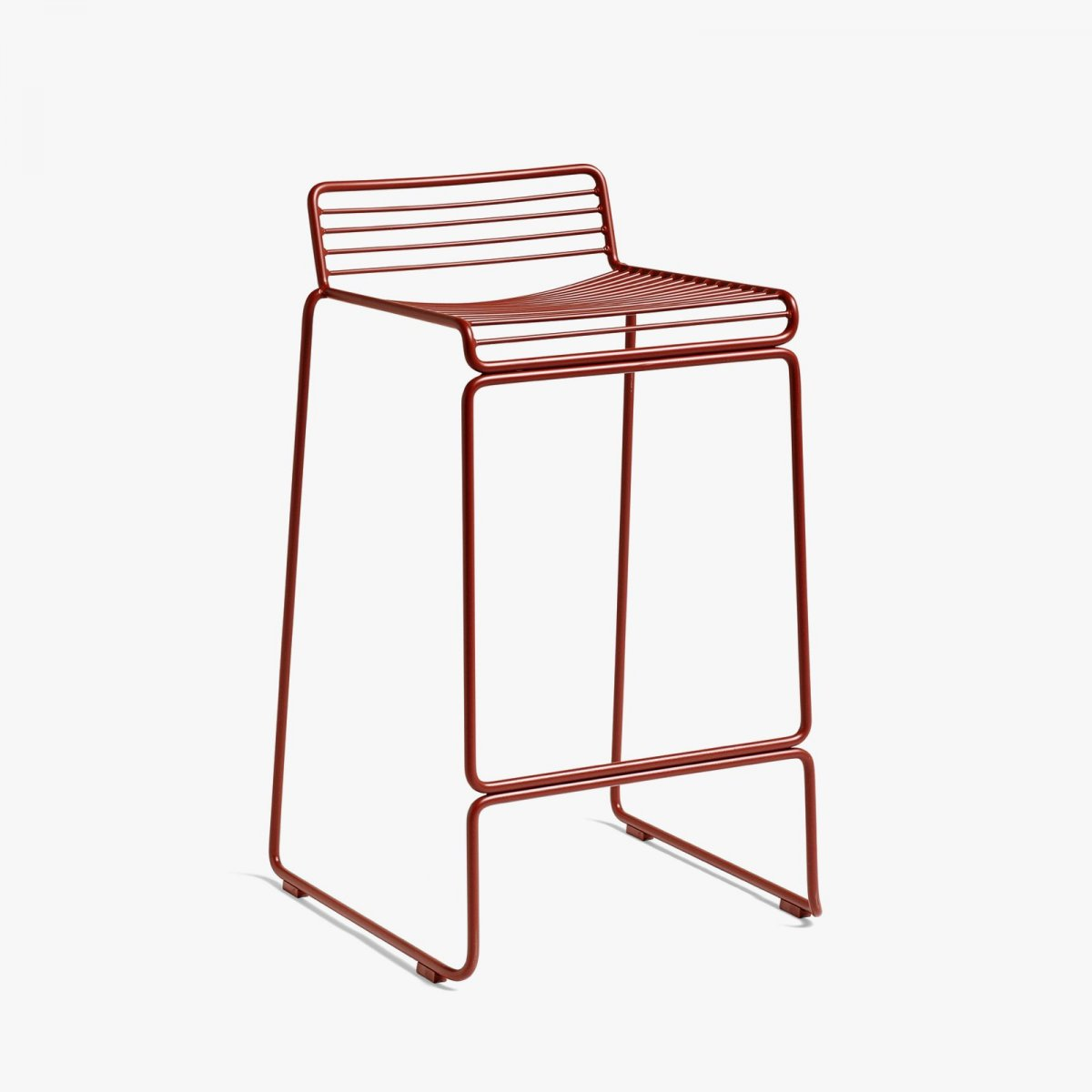 Hee Bar Stool, high, rust.