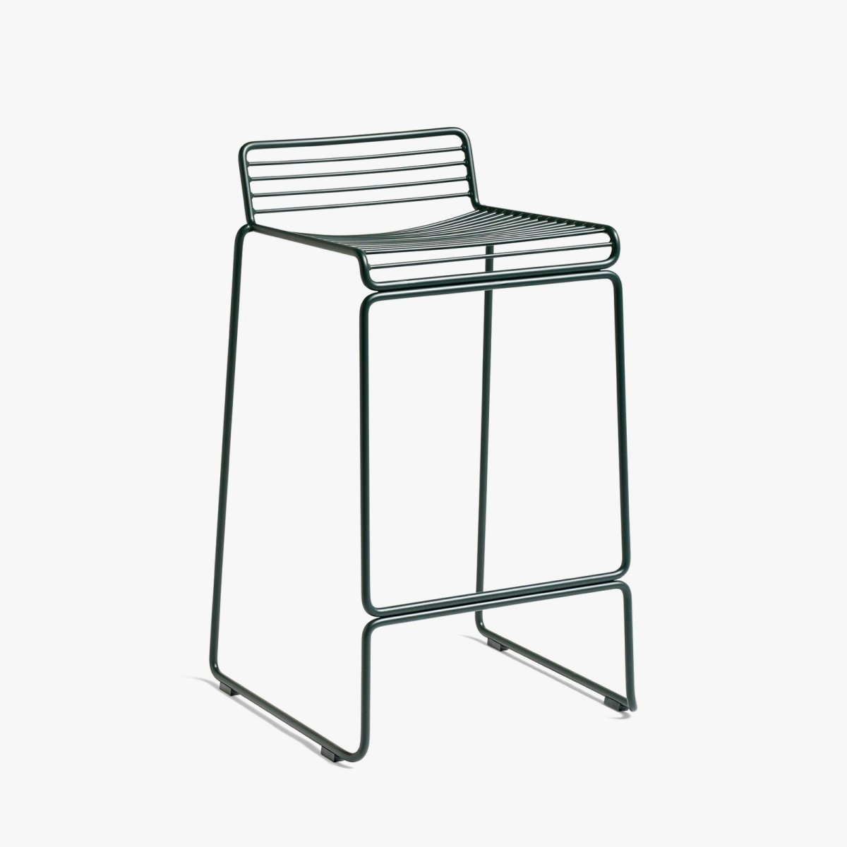 Hee Bar Stool, high, racing green.