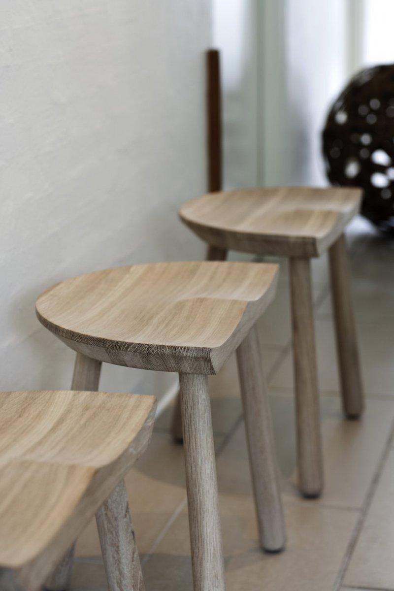 Cobbler Stools, oak.
