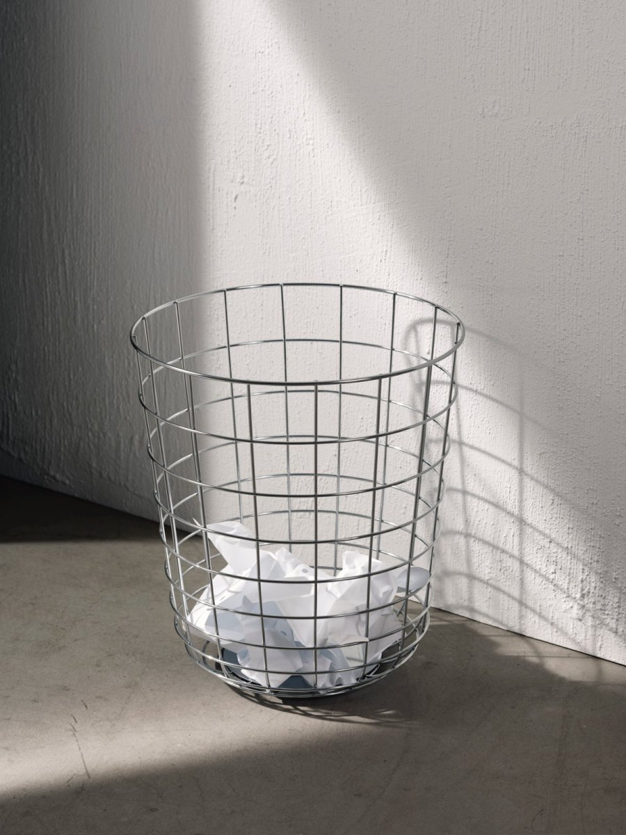 Wire Bin, chrome.