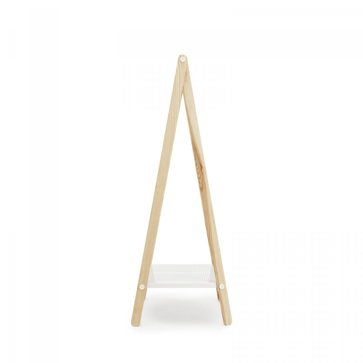Toj Clothes Rack Small, white, side view.