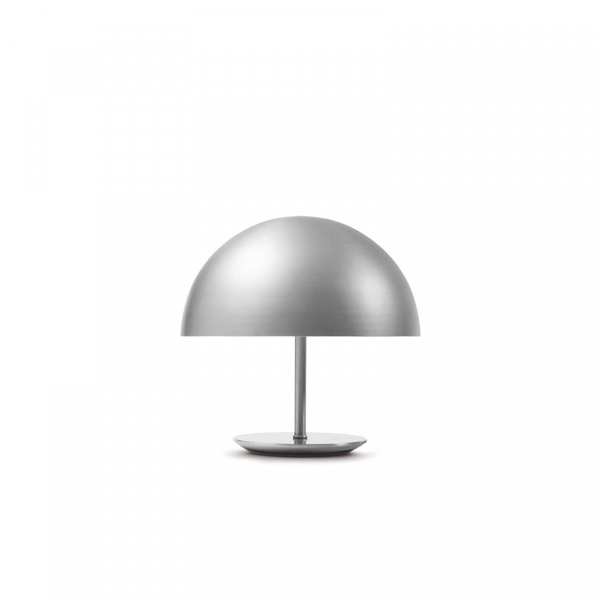 Baby Dome Lamp, matte aluminum.