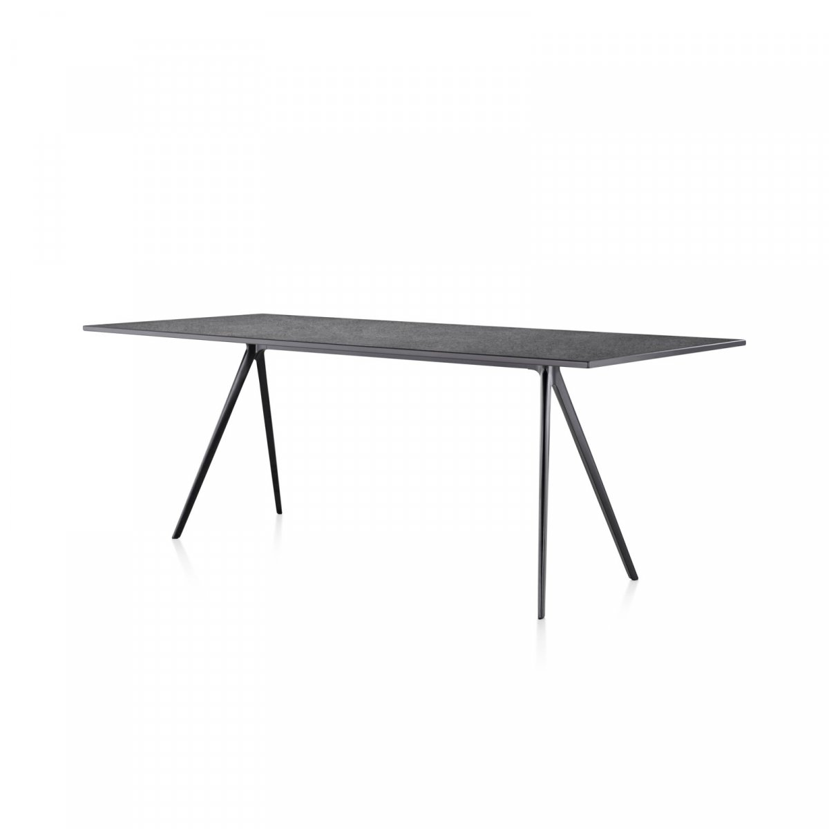 Baguette dining table, black.