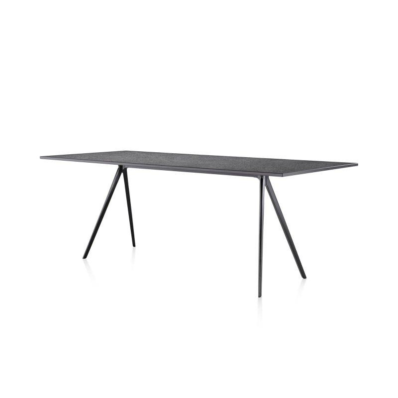 Baguette dining table, black.