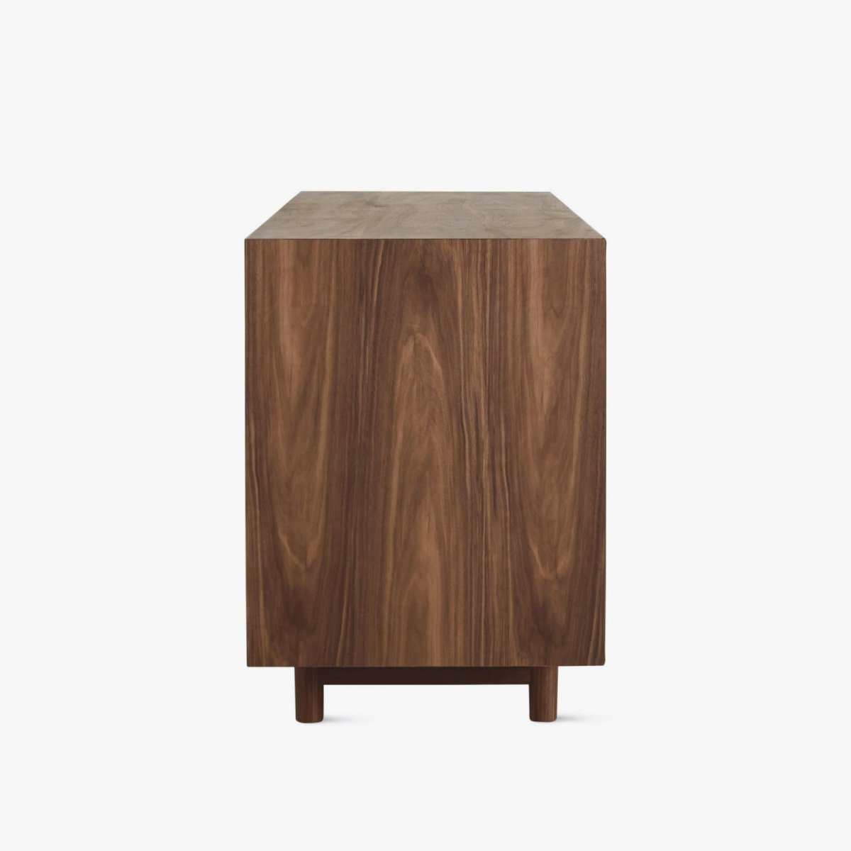 Edel Credenza, walnut, side view.