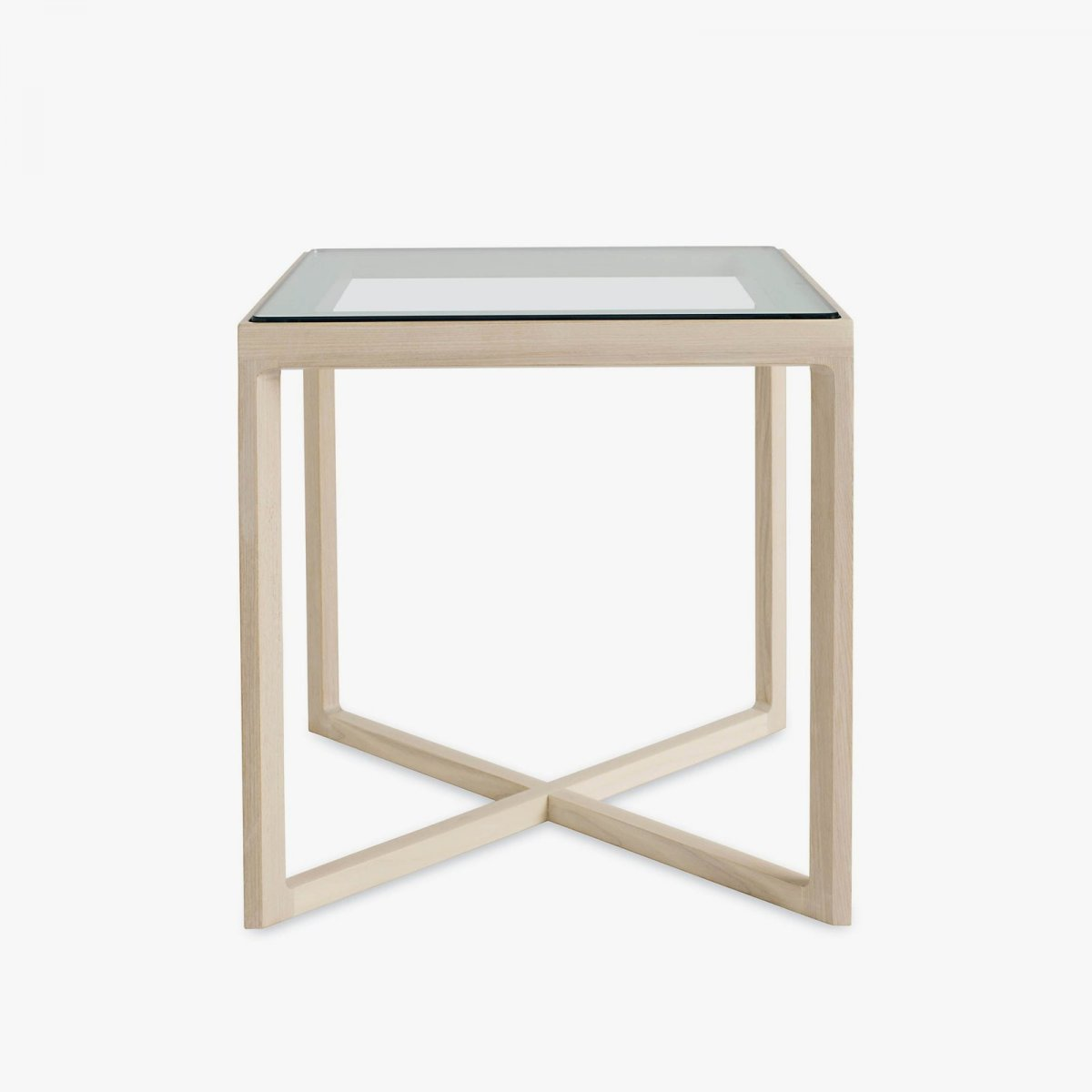 Krusin Side Table, ash + glass.