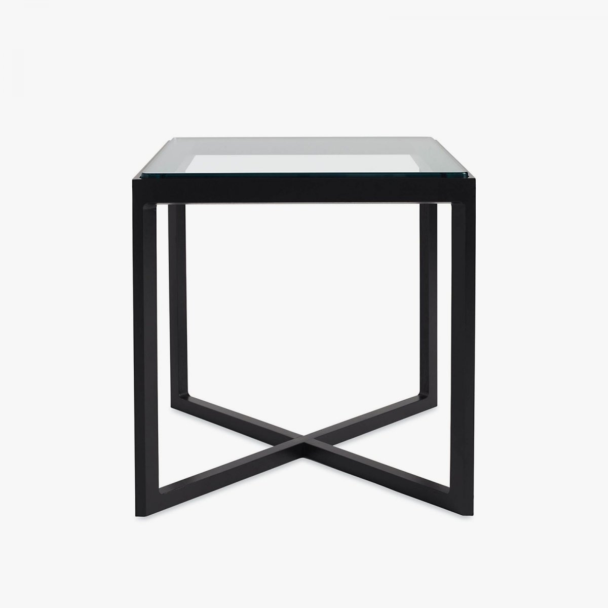 Krusin Side Table, ebony + glass.
