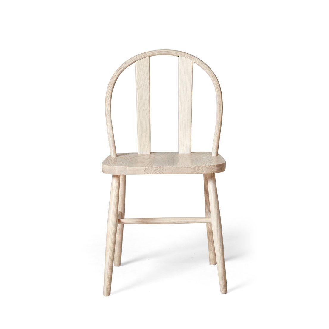 Bird Chair, light ash, front view.