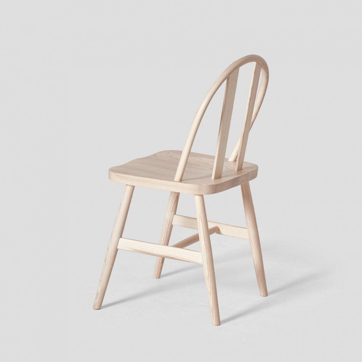 Bird Chair, light ash, back view.