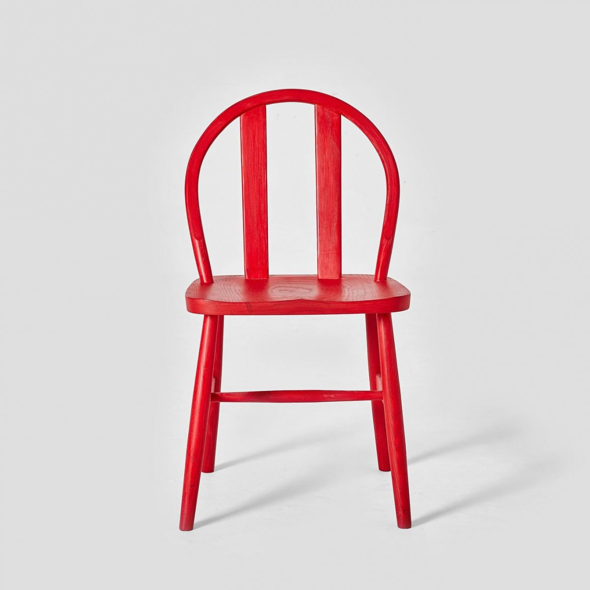 Bird Chair, red stained ash, front view.