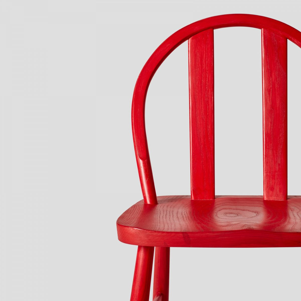 Bird Chair, red stained ash, detail.
