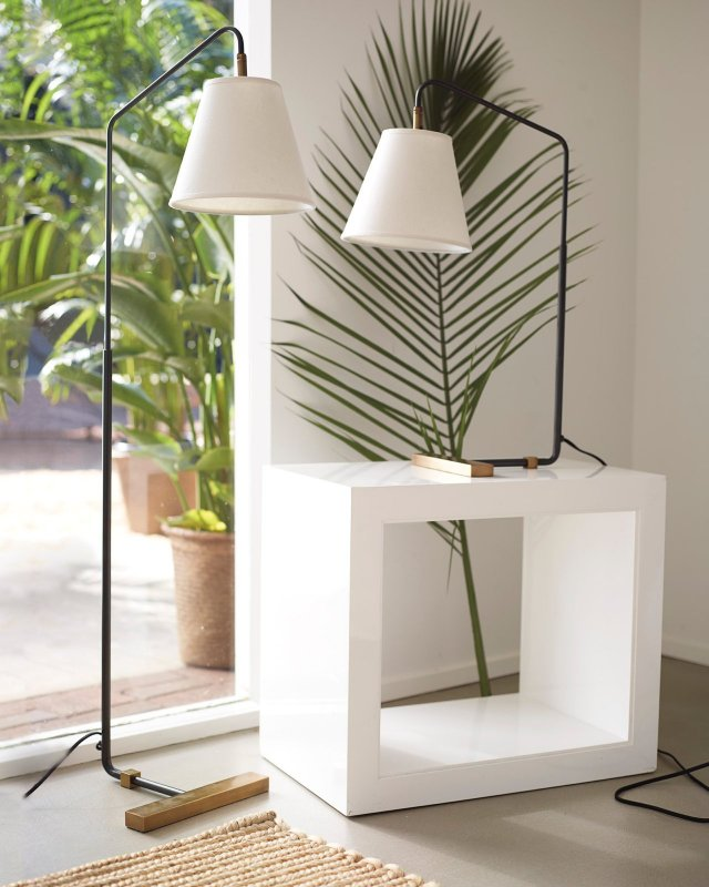 Flynn Table and Floor lamps.