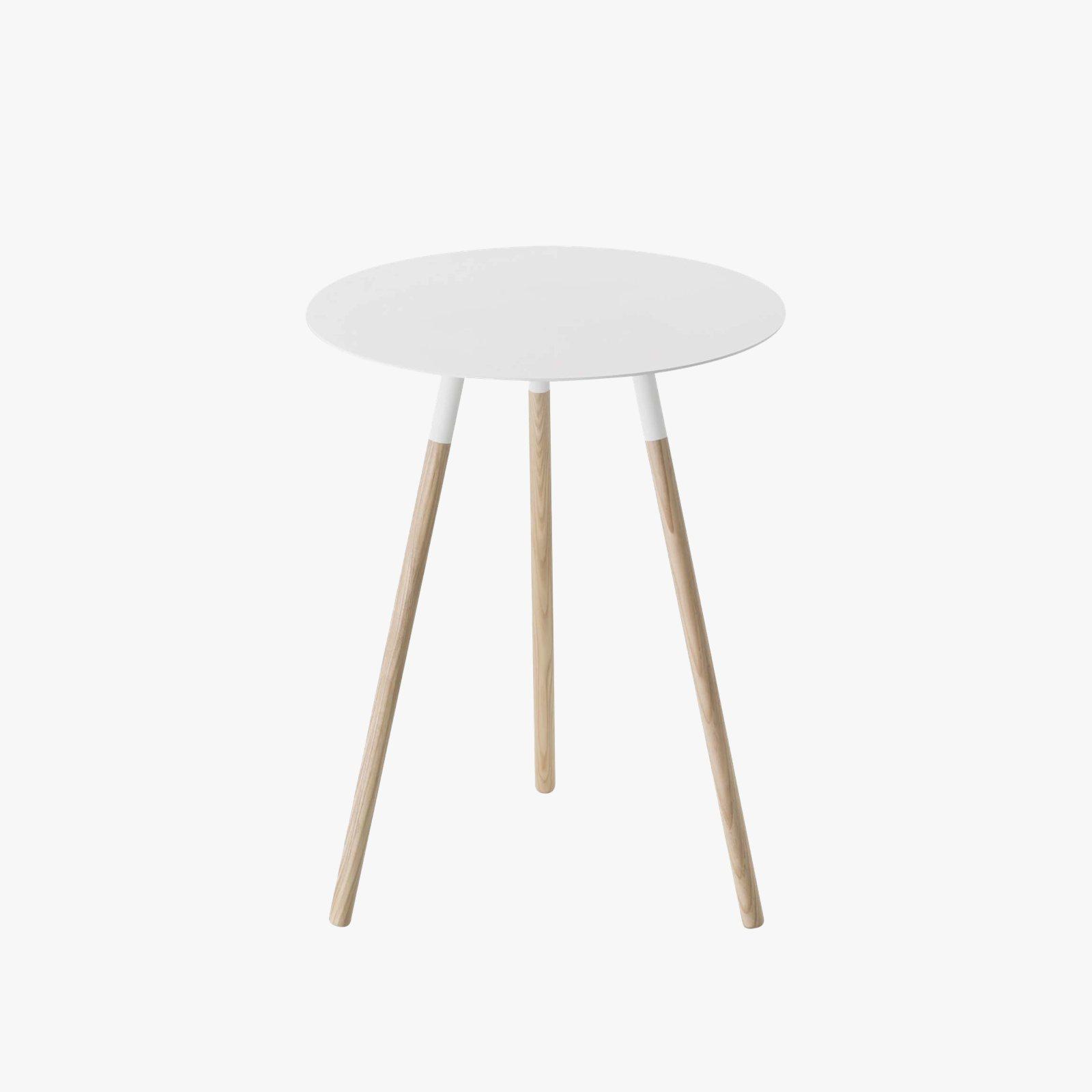 Plain Small Round End Table By Yamazaki