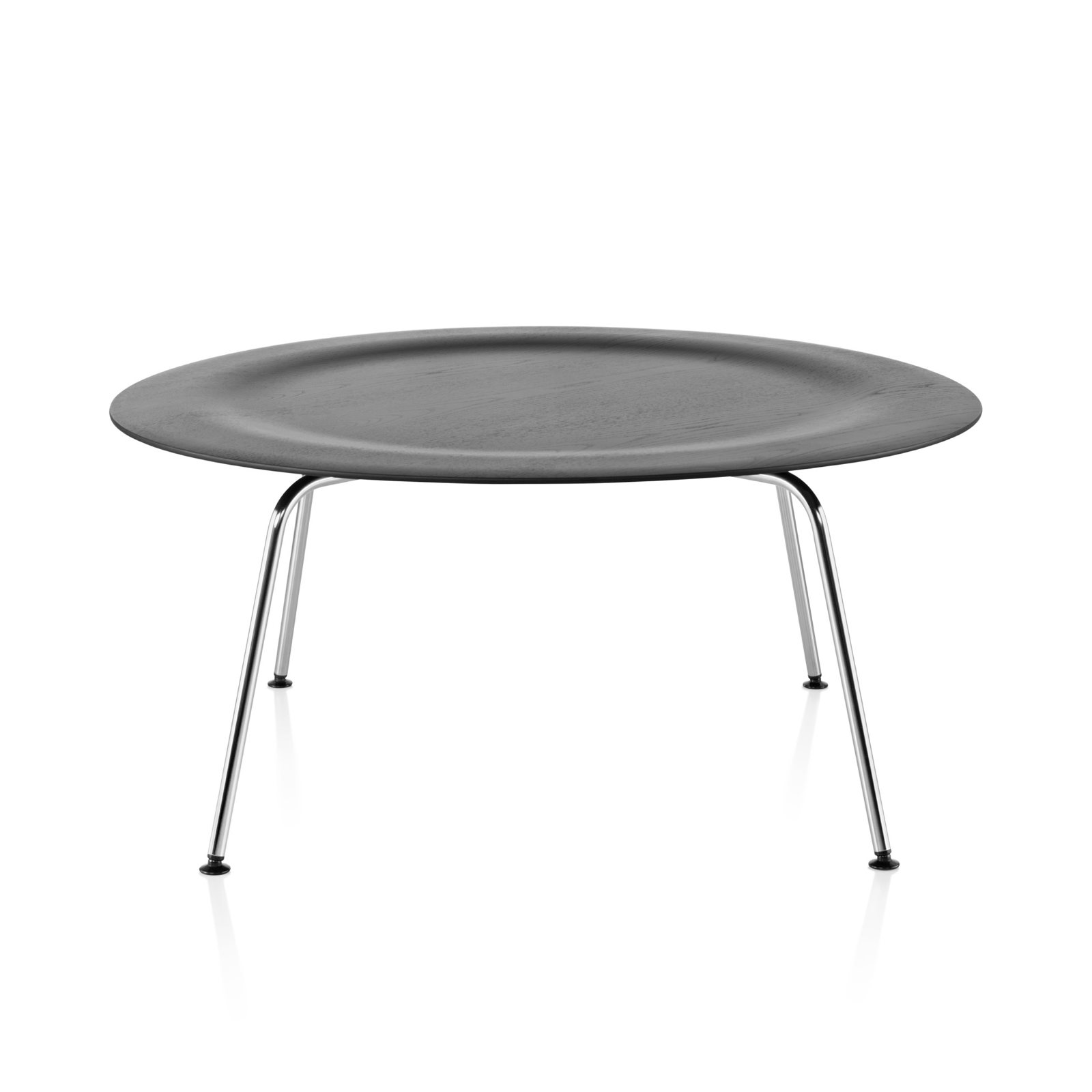 Eames Molded Plywood Coffee Table Metal Base By Charles Ray For Herman Miller