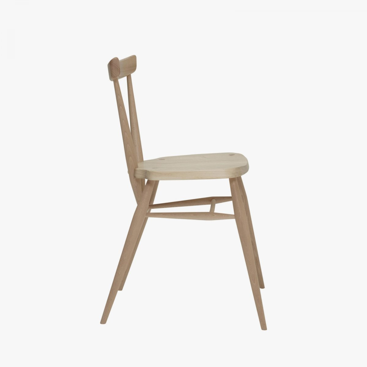 Originals Stacking Chair, front view, side view.