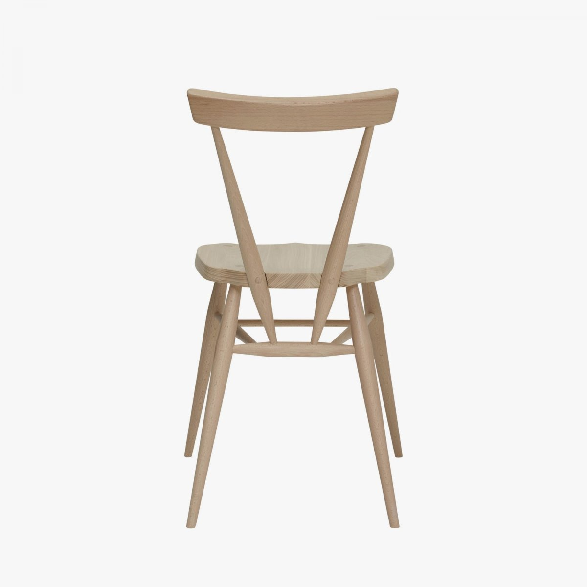 Originals Stacking Chair, front view, back view.