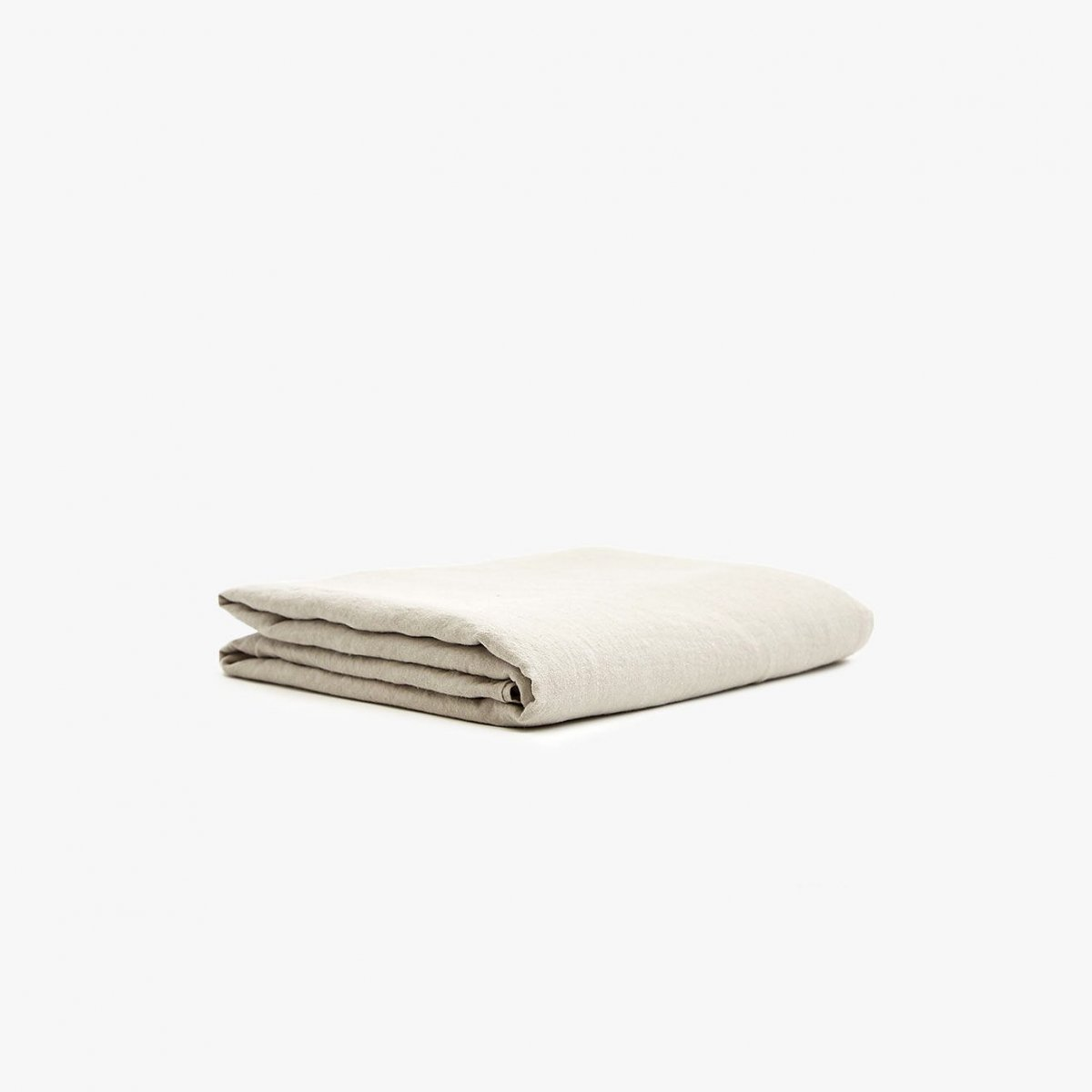 Simple Linen Flat Sheet (King), light grey.