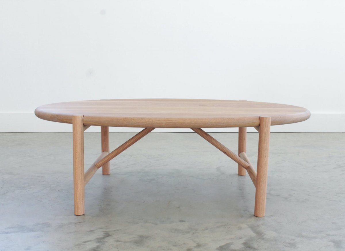 Mora Coffee Table, white oak.