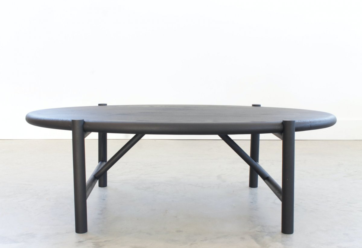 Mora Coffee Table, blackened ash.