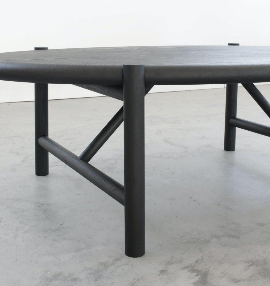 Mora Coffee Table, blackened ash, detail.