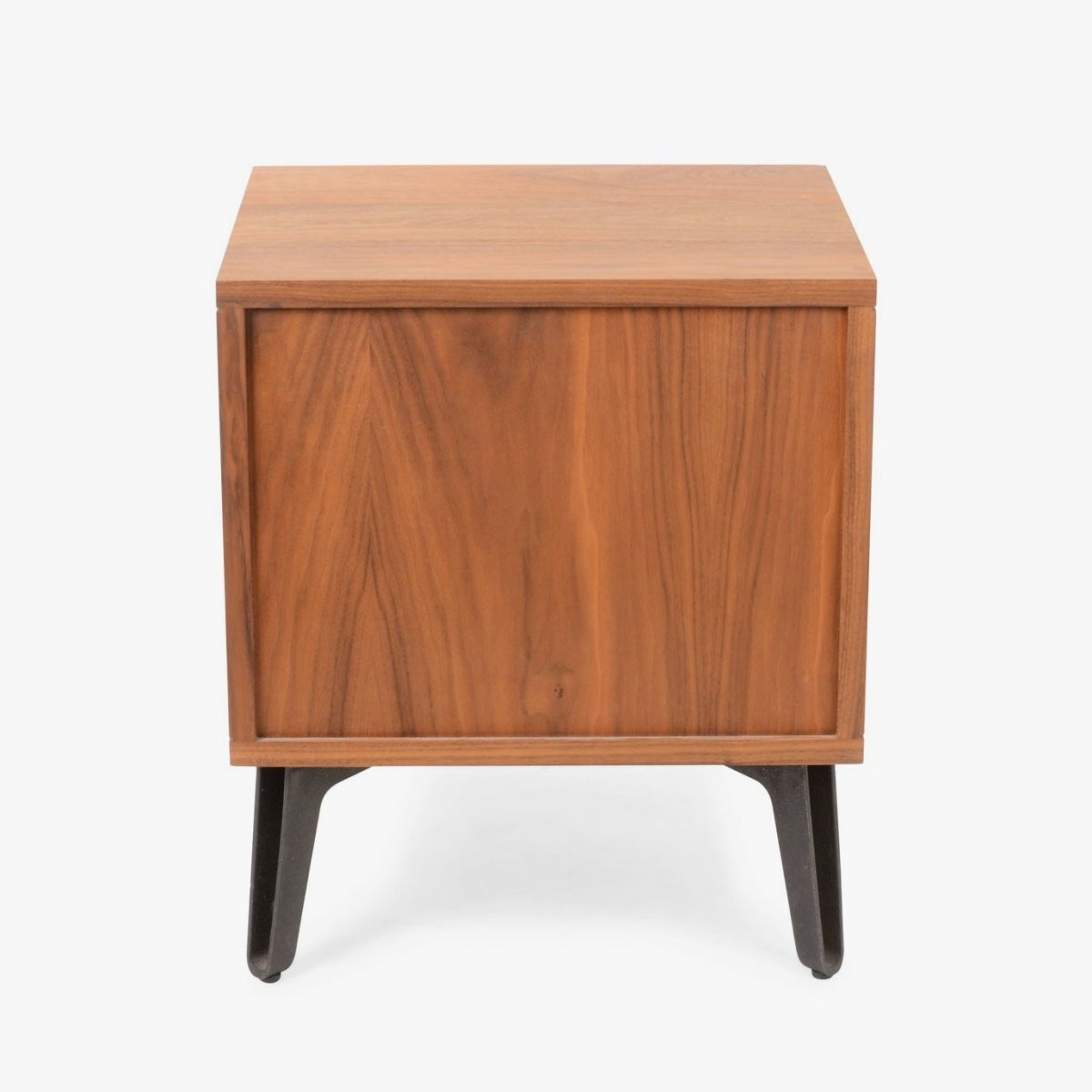 379 Mcqueen Bedside Chest, walnut, back view.