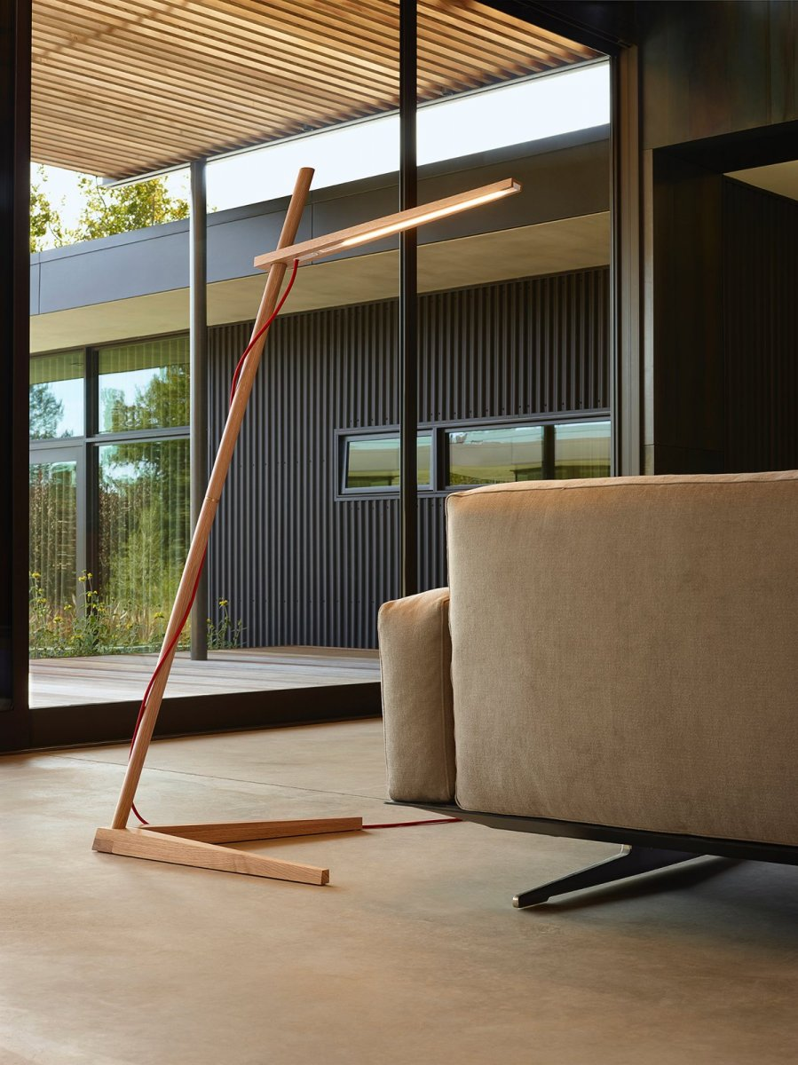 Clamp Floor Lamp, white oak.