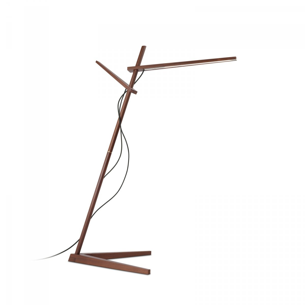 Clamp Floor Lamp, walnut.