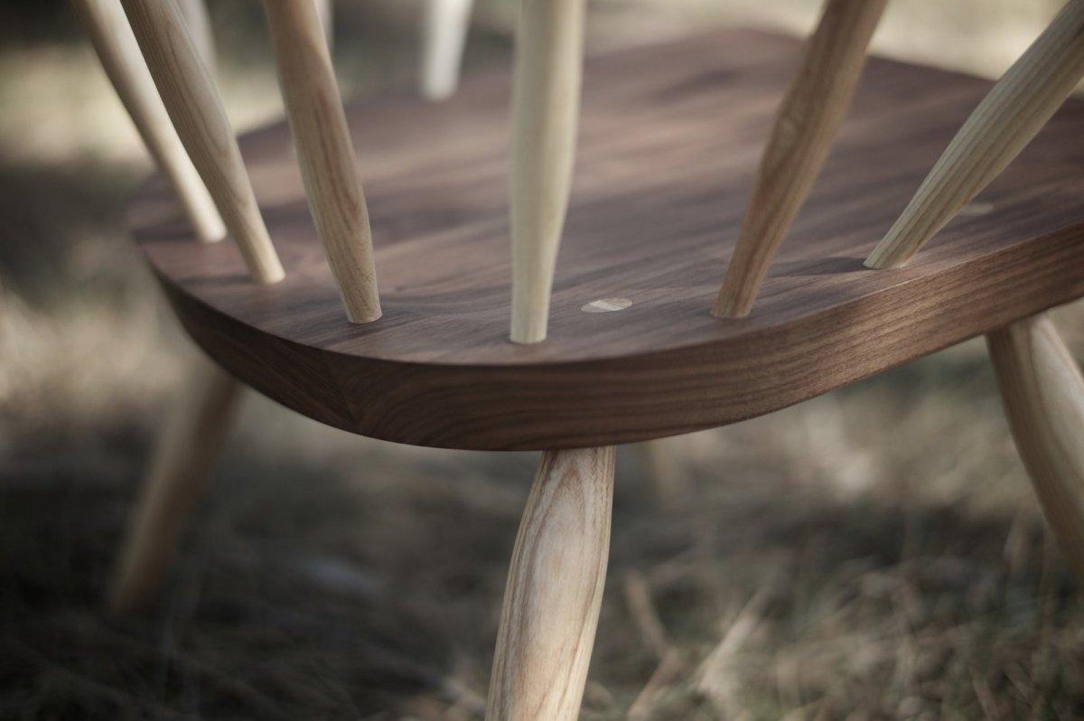 360 Burnham Windsor Chair, detail.
