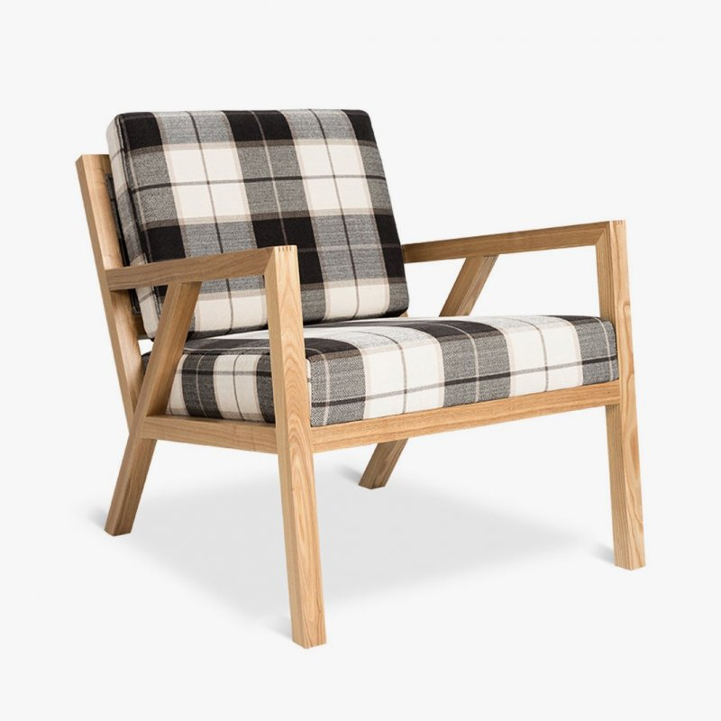 Truss Chair, Tartan Shadow.