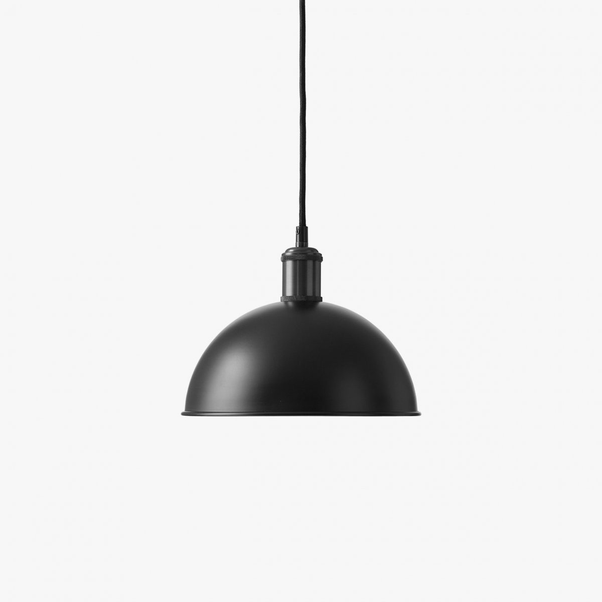 Hubert Pendant, black + gunmetal.