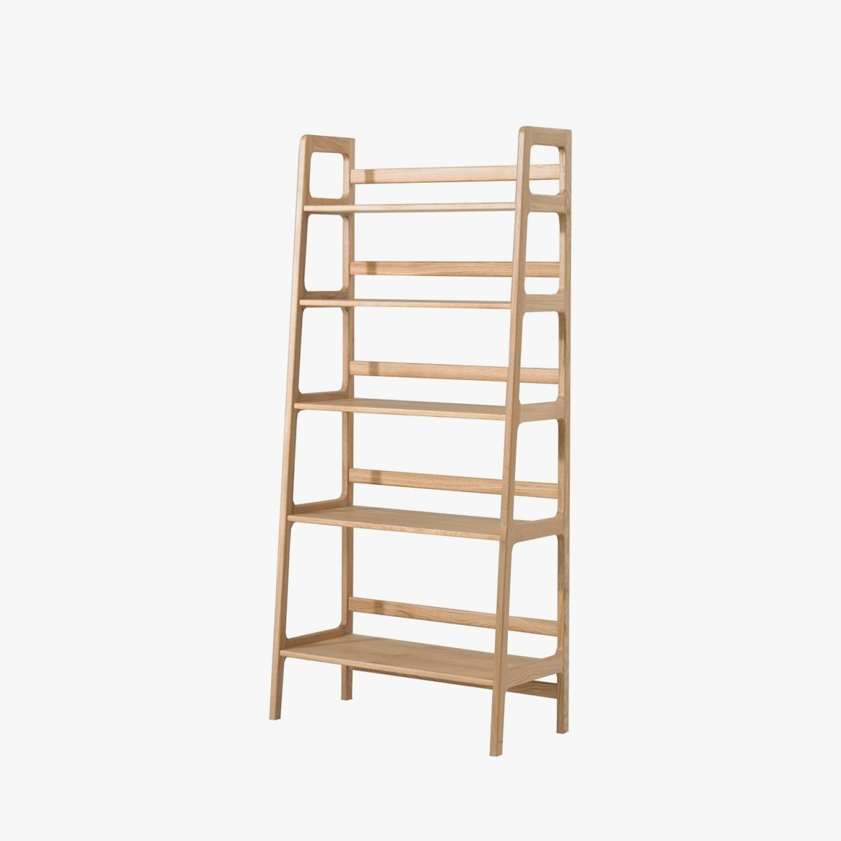 Agnes High Shelving Unit, oak.