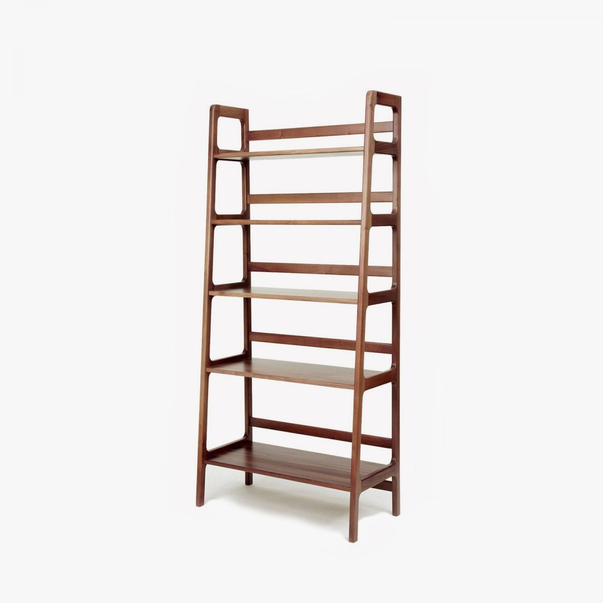 Agnes High Shelving Unit, walnut.