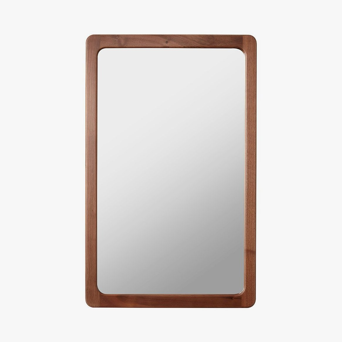 Agnes Mirror small, walnut.