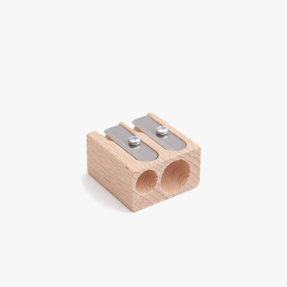 Point Pencil Sharpener, duo untreated.