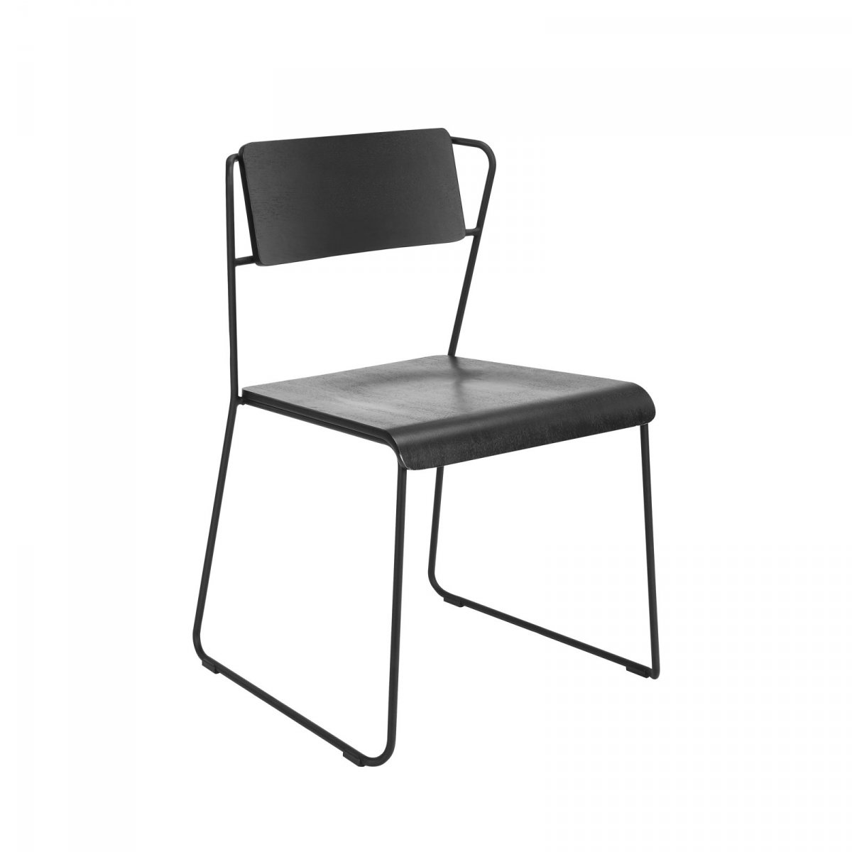 Transit G8 Stacking Chair, black.