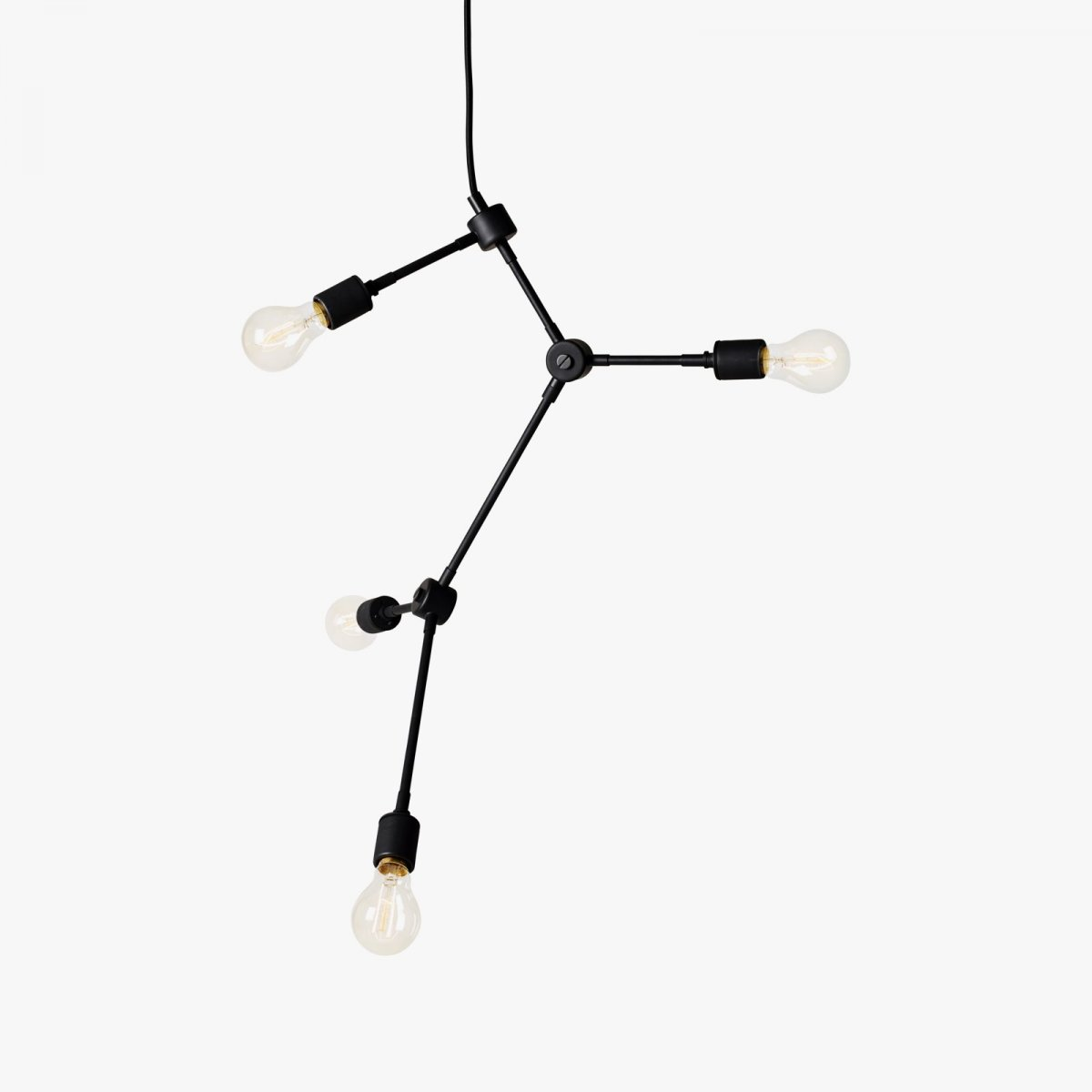 Franklin Chandelier, black.