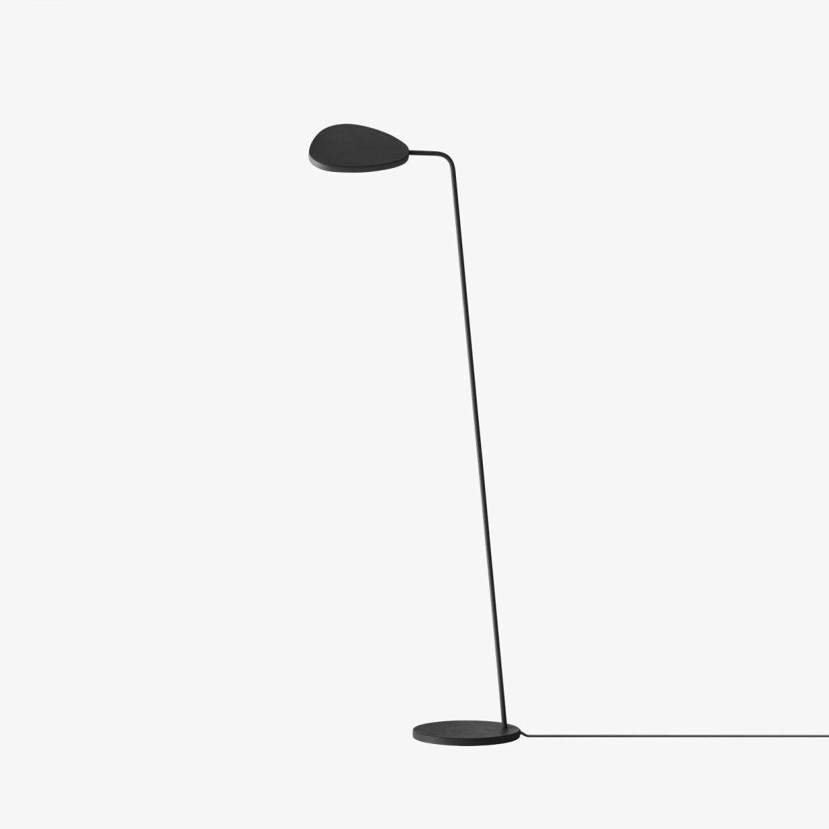 Leaf Floor Lamp, black.