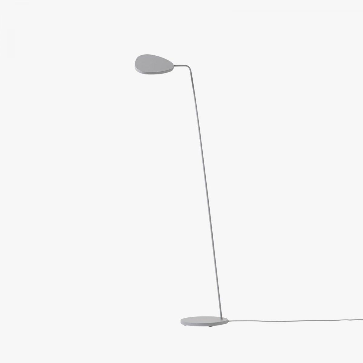 Leaf Floor Lamp, gray.