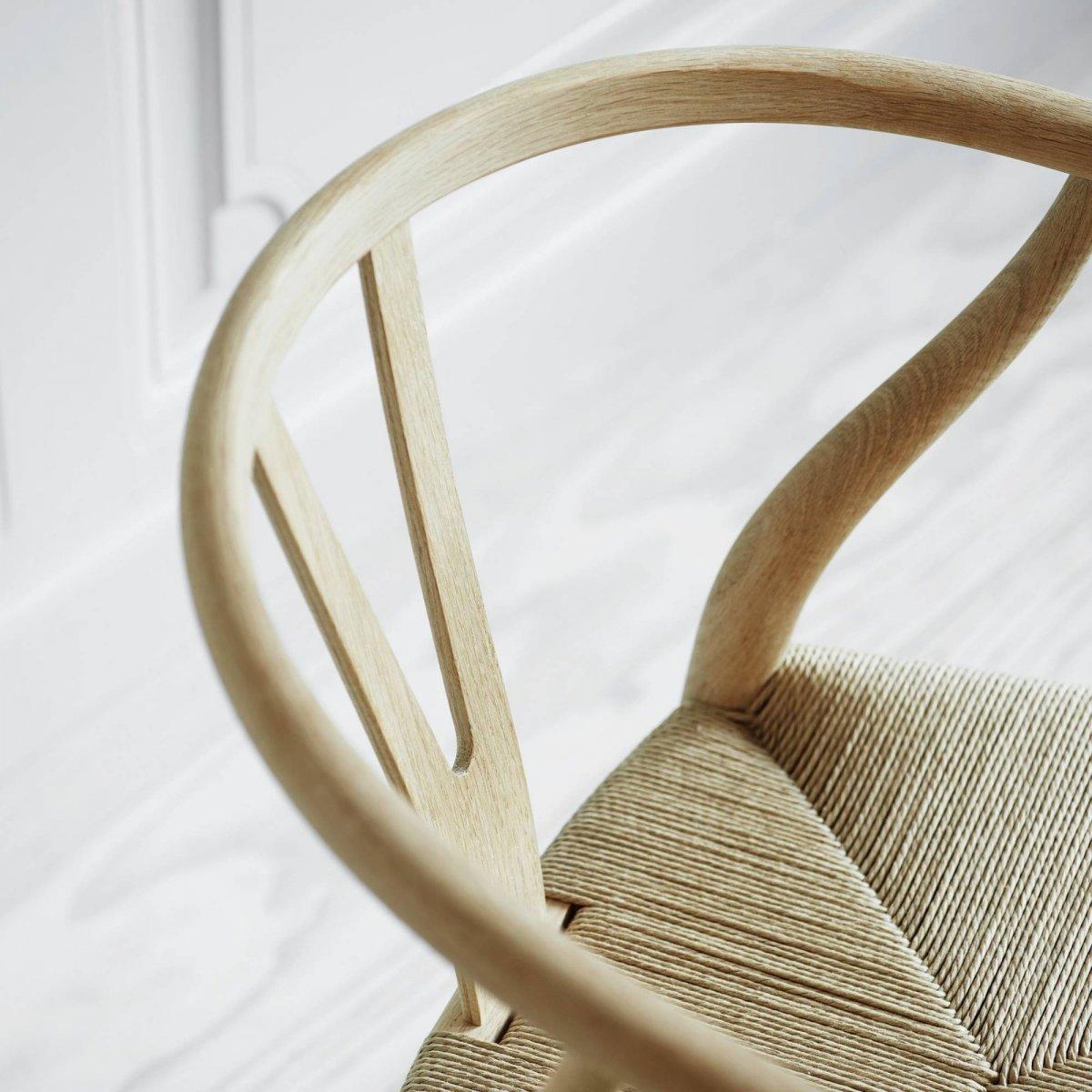 CH24 Wishbone Chair, detail.