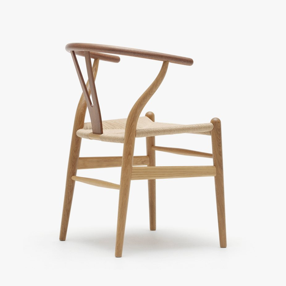 CH24 Wishbone Chair, back view.
