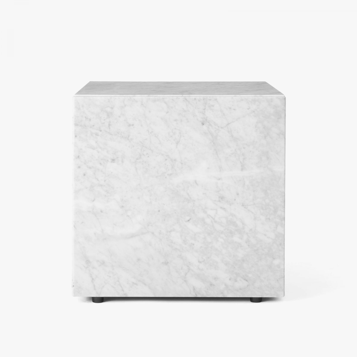 Plinth, Cubic side table, white.