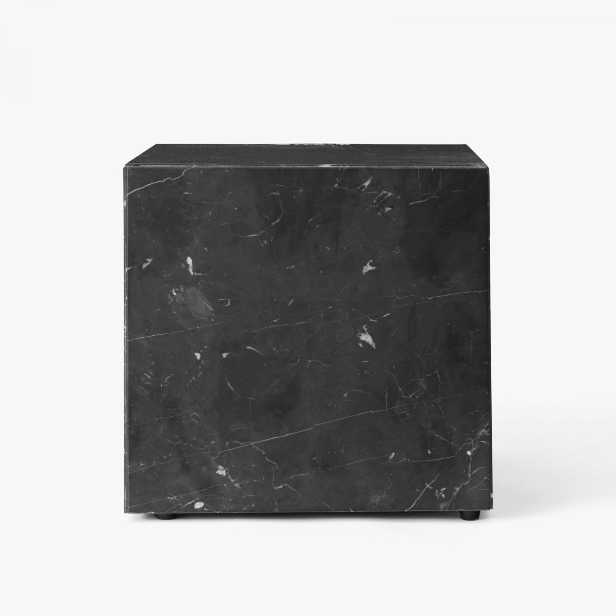 Plinth, Cubic side table, black.