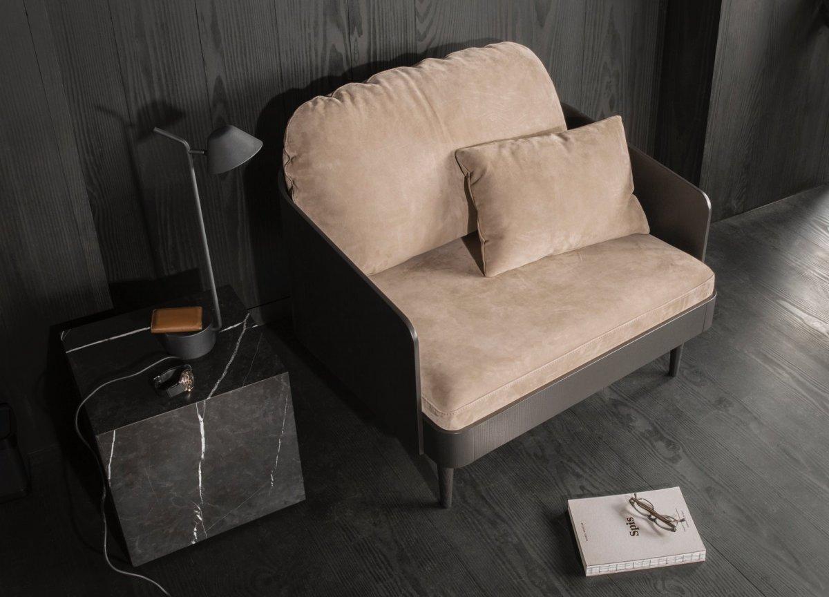 Plinth, Cubic side table, black.