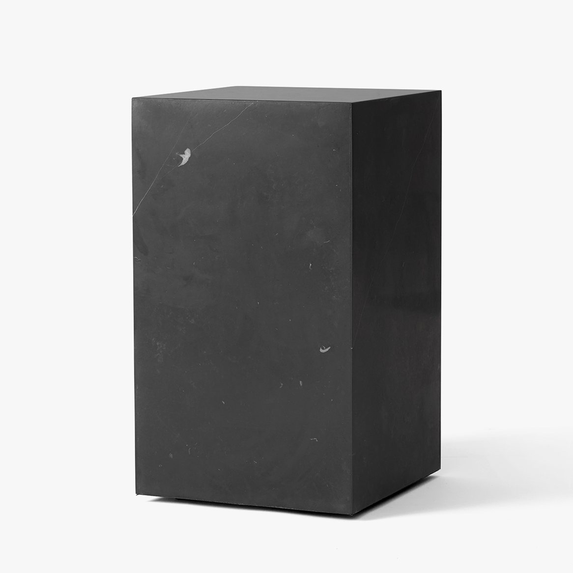 Plinth Tall side table, black.