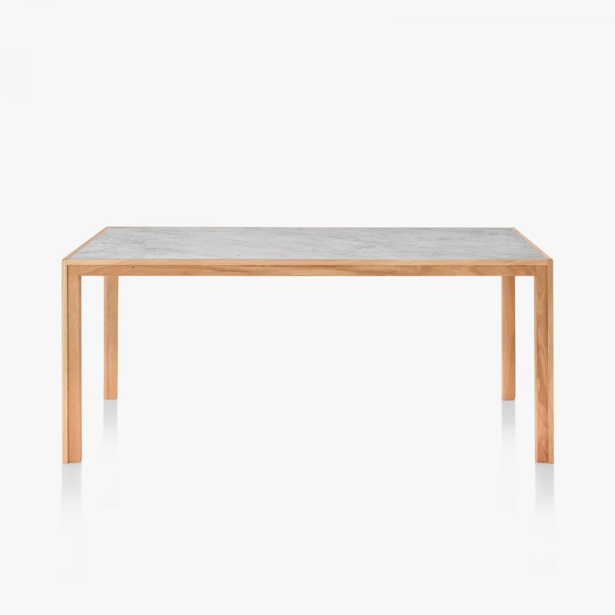 Doubleframe Table, Carrara/Oak.