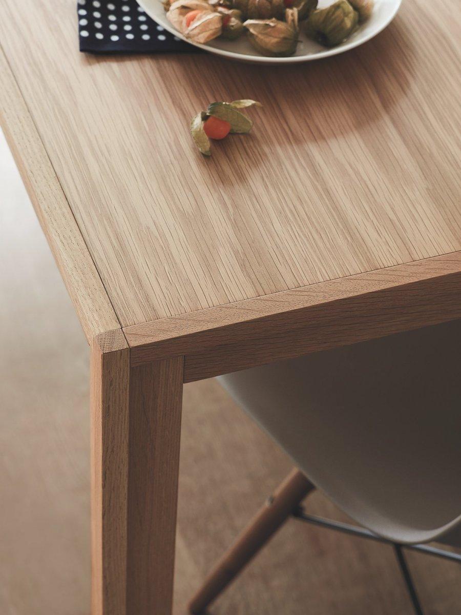 Doubleframe Table, Oak, detail.