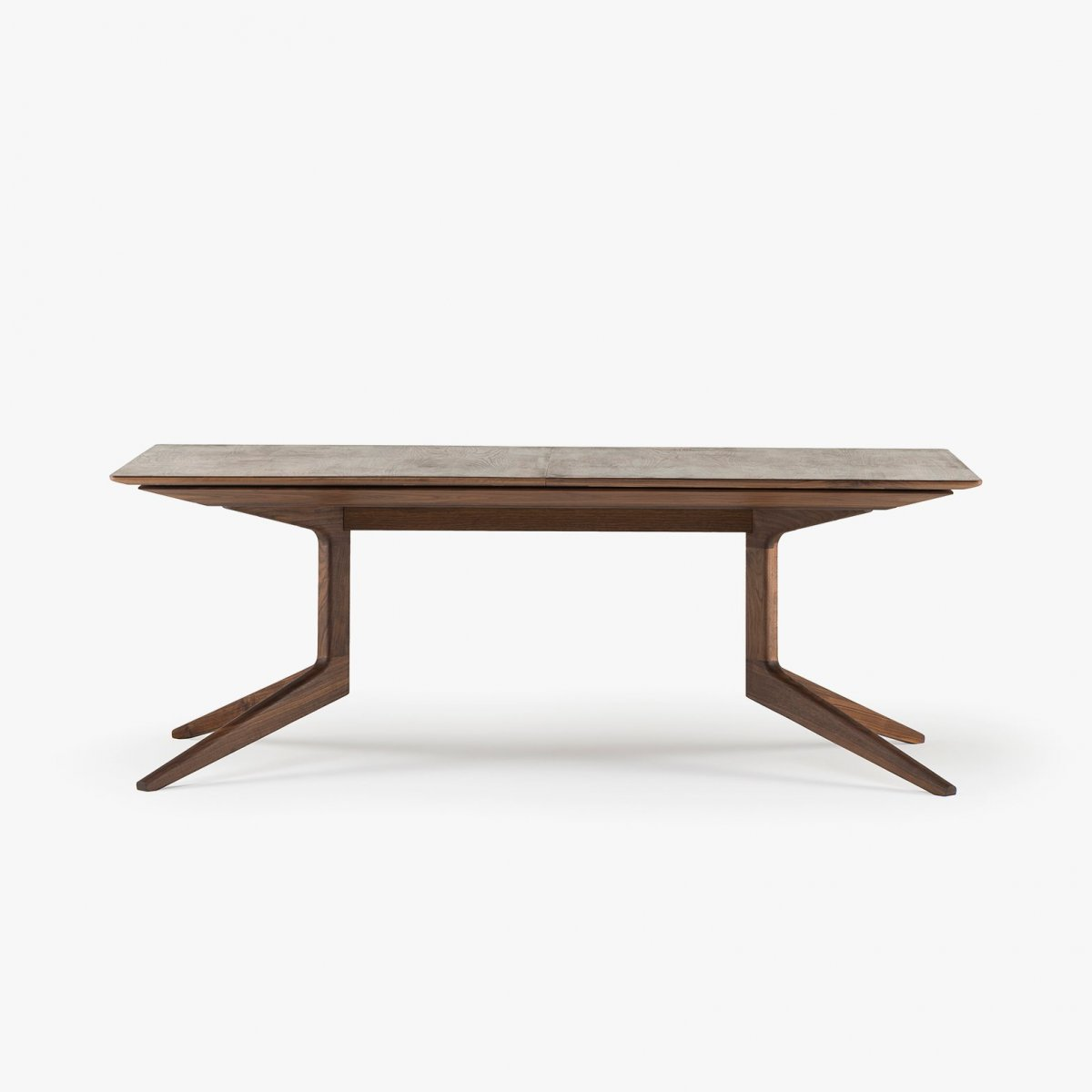 341E Light Extending Table in Danish oiled walnut, no leaves in place.