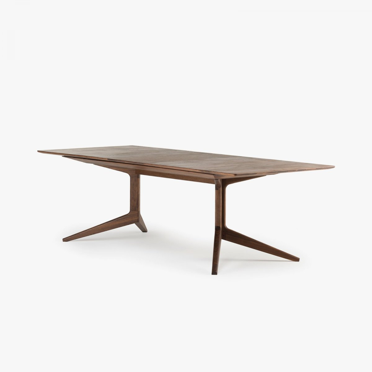 341E Light Extending Table in Danish oiled walnut.