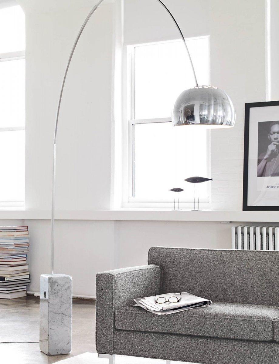 Arco floor lamp.