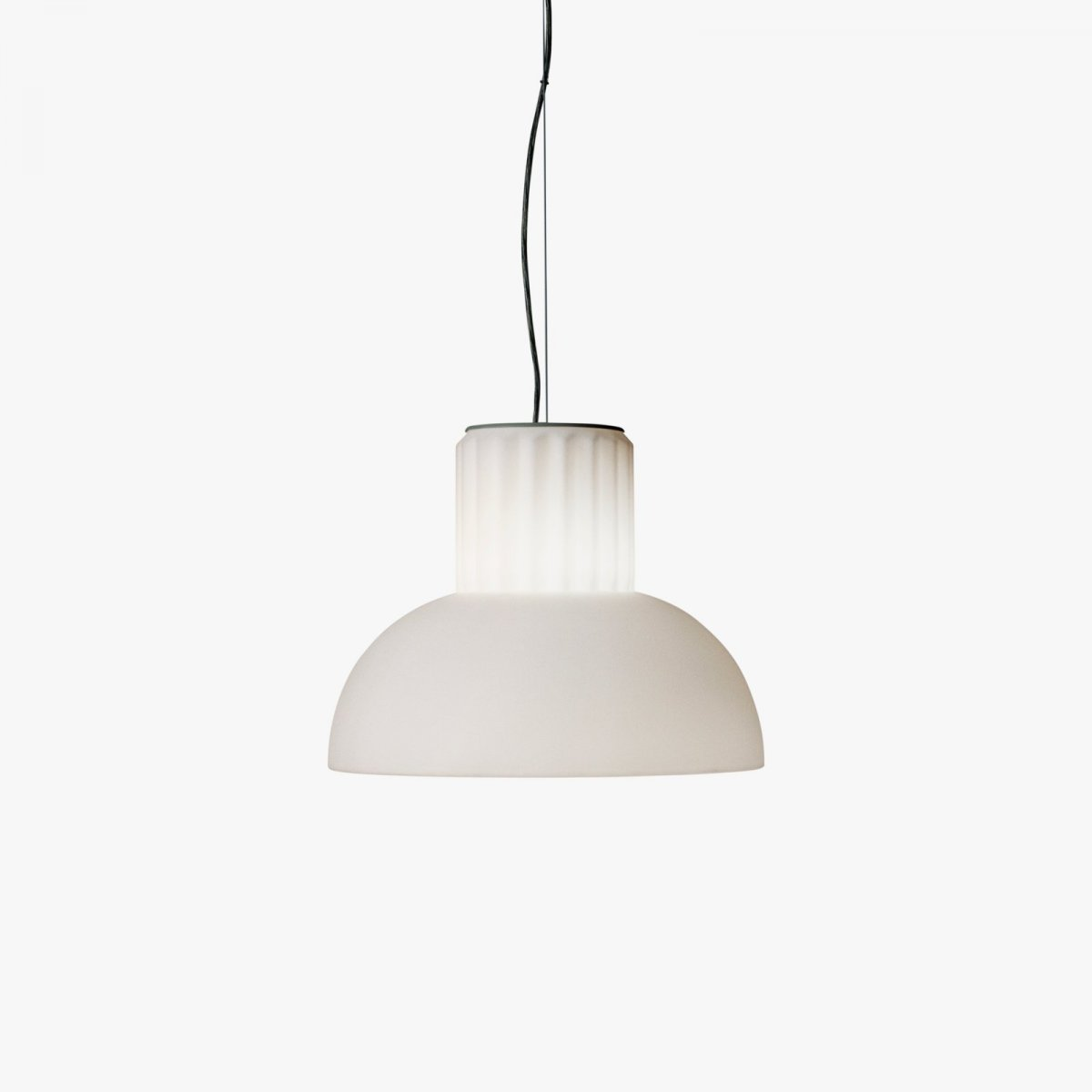 The Standard Pendant lamp, lit.